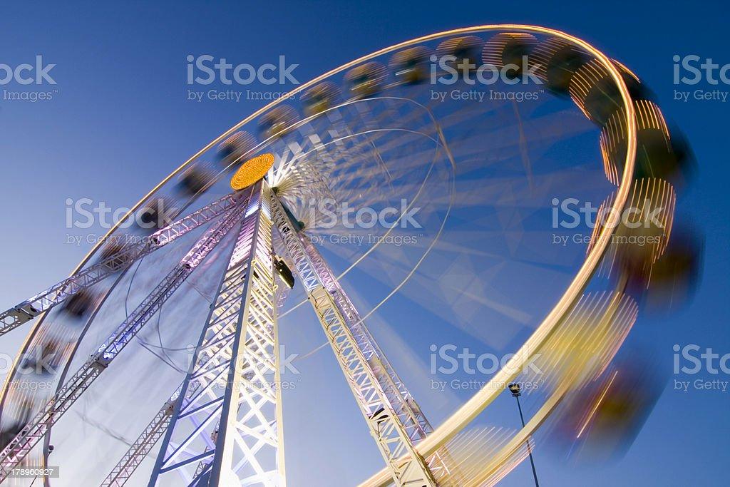 Big wheel on a fun fair royalty-free stock photo