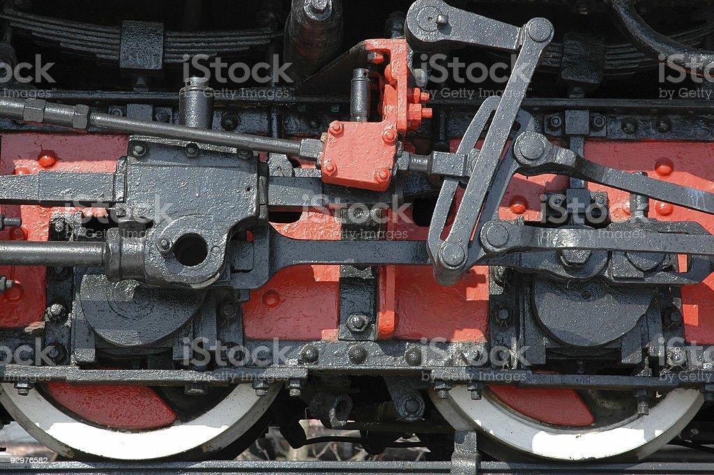 Grande roue la vapeur chaude photo libre de droits