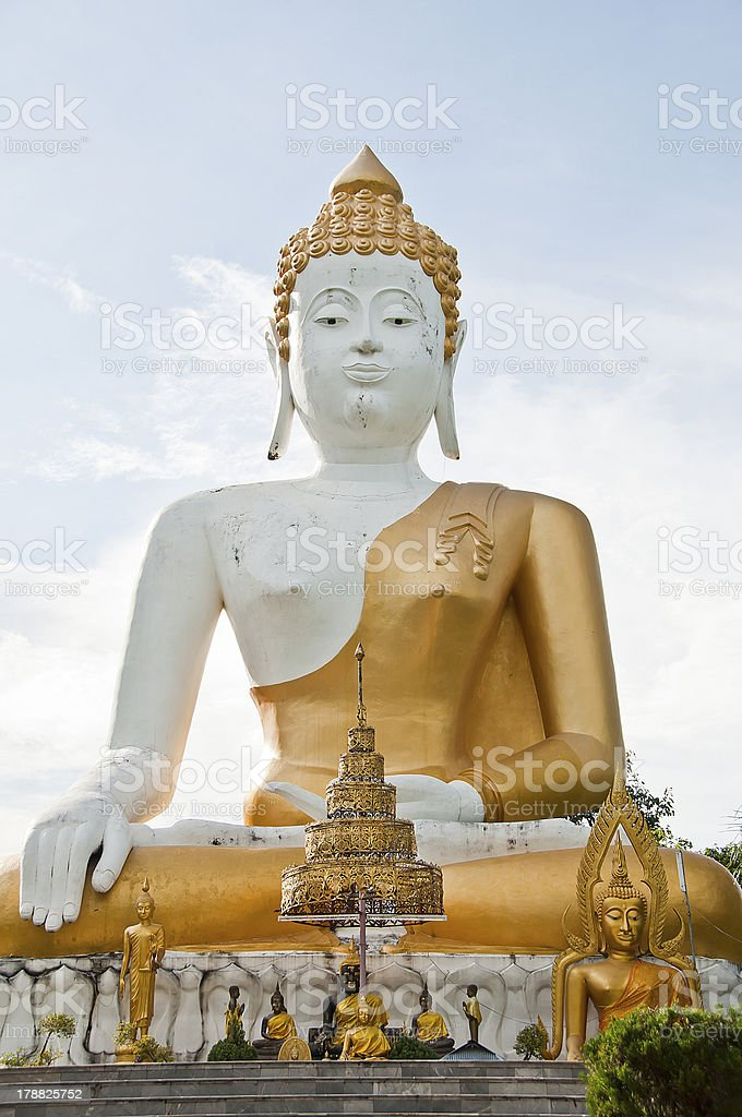 Big White Buddha. royalty-free stock photo