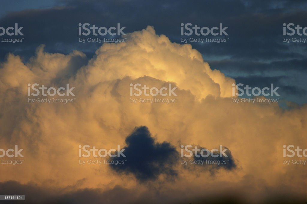 Big white clouds stock photo