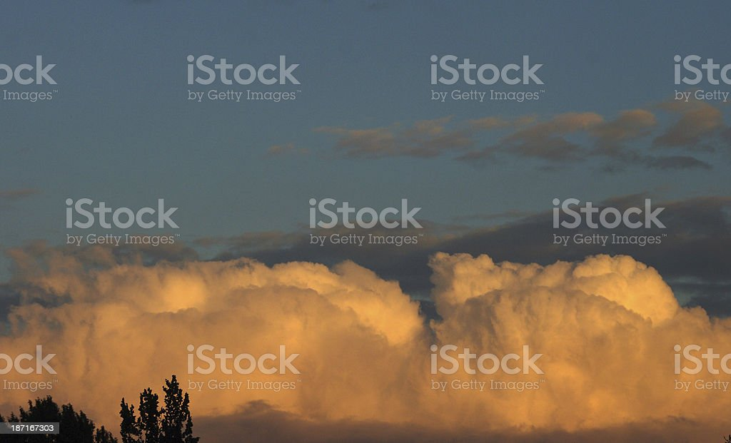 Big white clouds stock photo