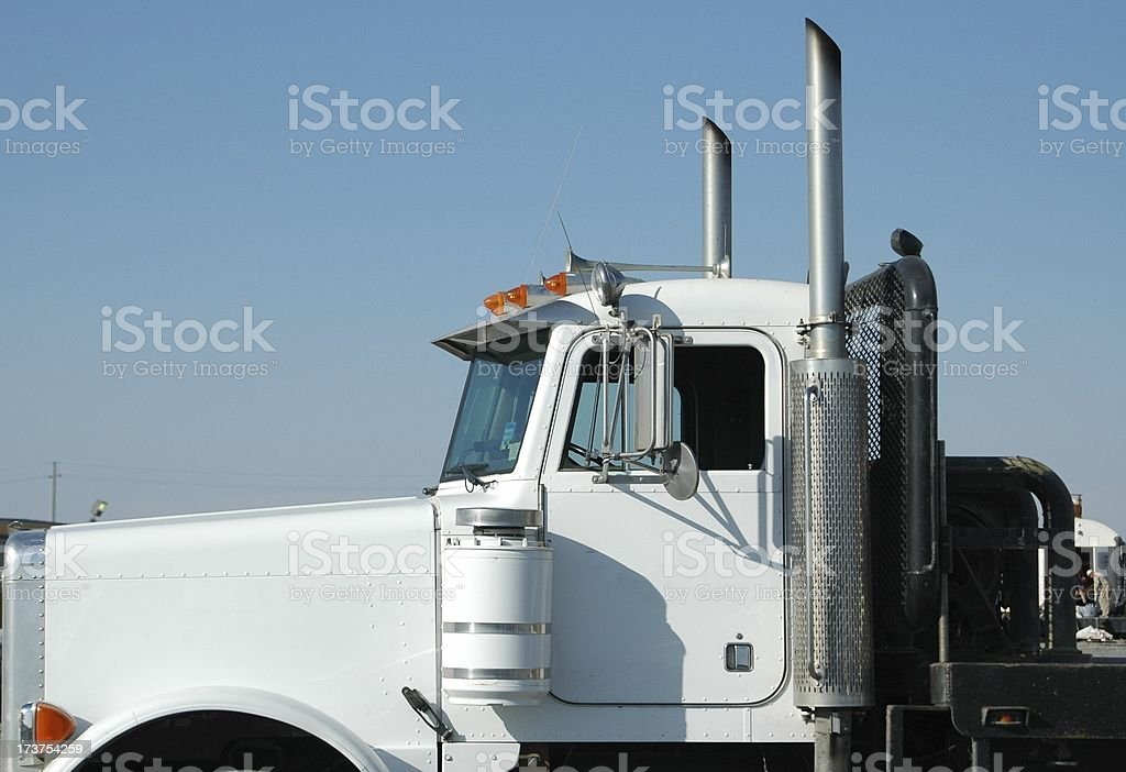 Big white truck royalty-free stock photo