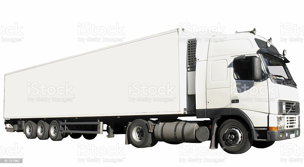 Big white truck, with clipping paths royalty-free stock photo