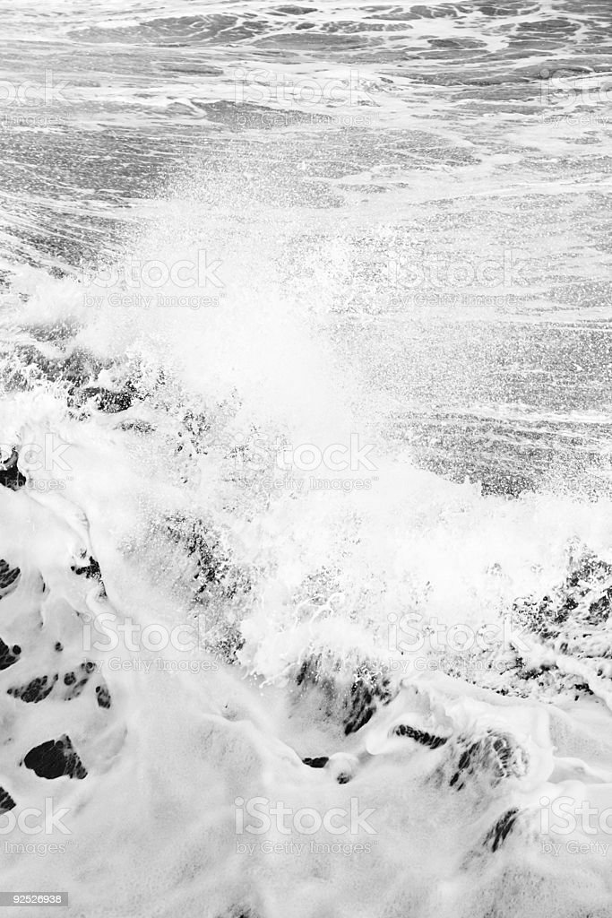 Big White Waves royalty-free stock photo