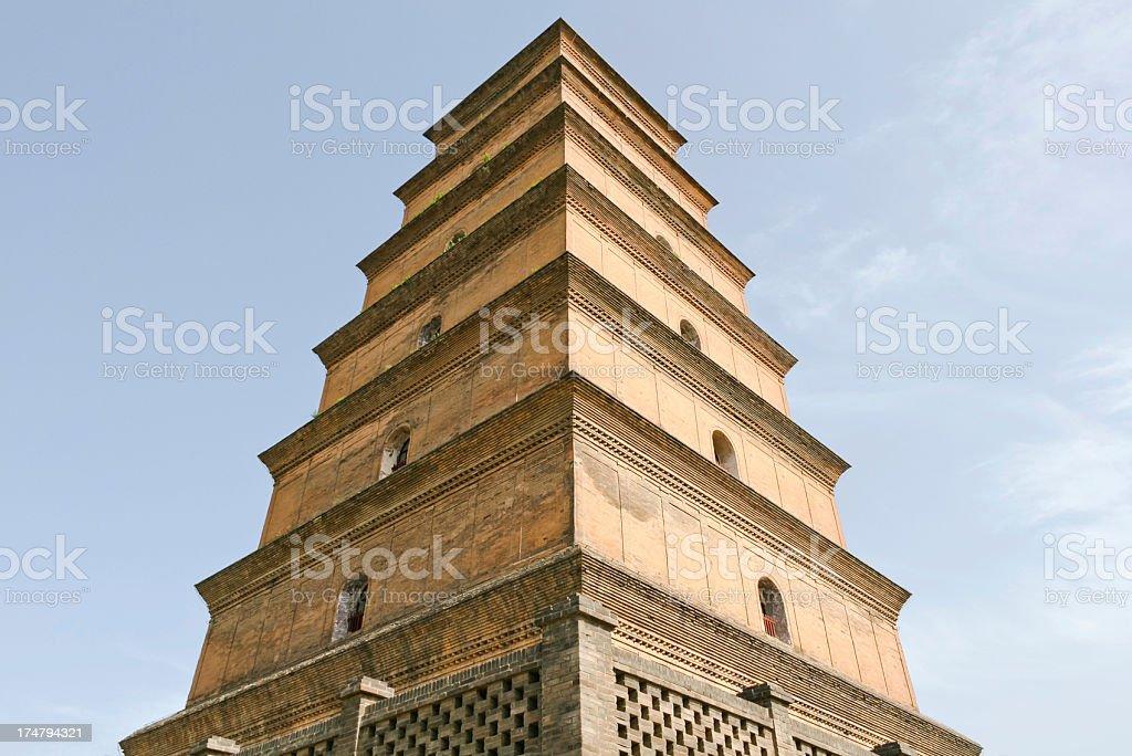Big Wild Goose Pagoda royalty-free stock photo