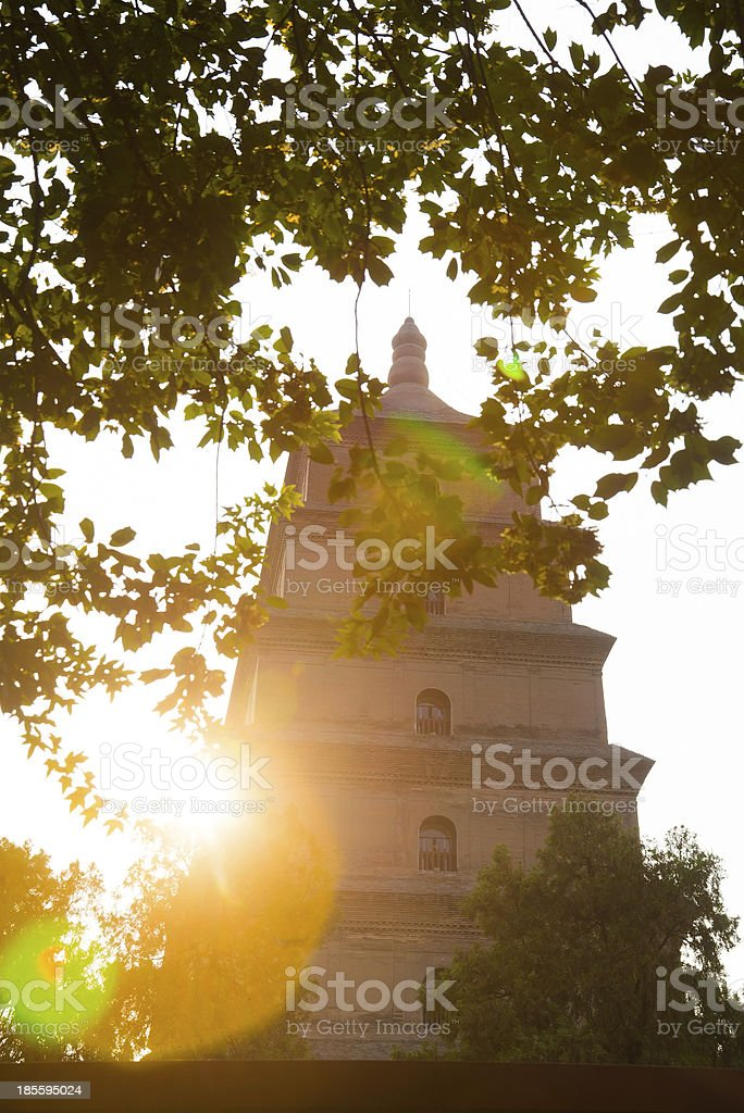 Big Wild Goose Pagoda stock photo