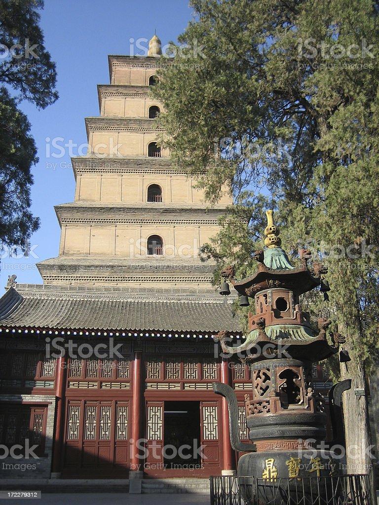 Big Wild Goose Pagoda, Xian, China 1 royalty-free stock photo