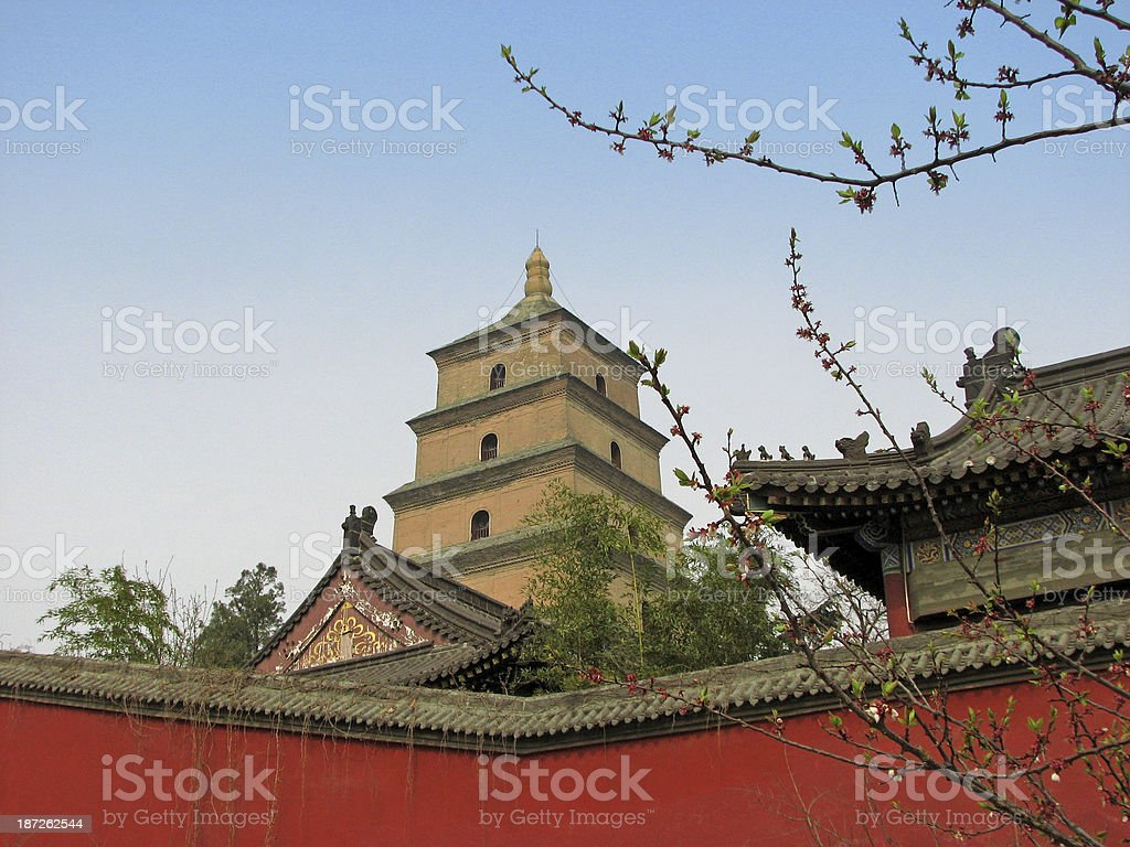 Big Wild Goose Pagoda (Dayan Da), Xian, China stock photo