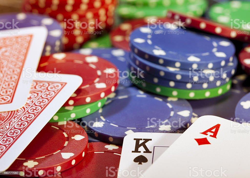 Big win at poker game royalty-free stock photo