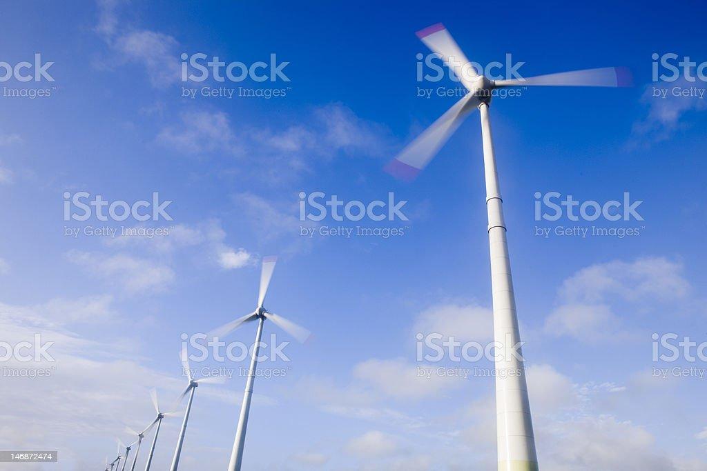 Big winds turbines stock photo