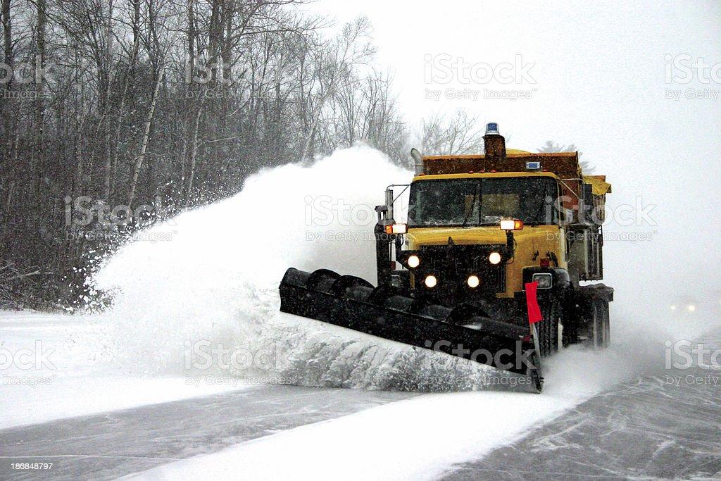 Big Winter Plow royalty-free stock photo