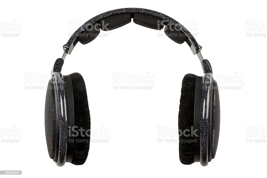 big wireless headphones isolated royalty-free stock photo