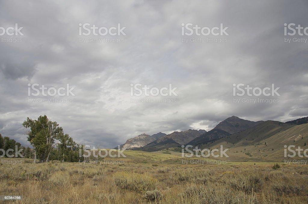 BIg Wood Valley, Idaho stock photo