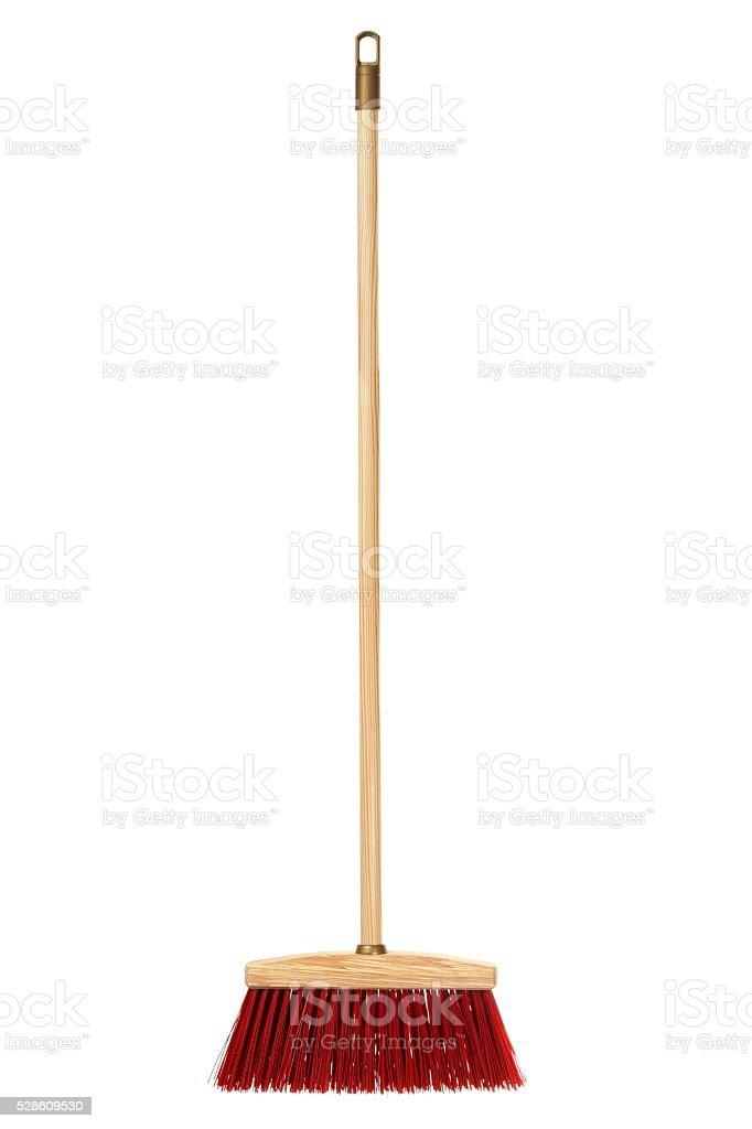 Big wooden broom stock photo
