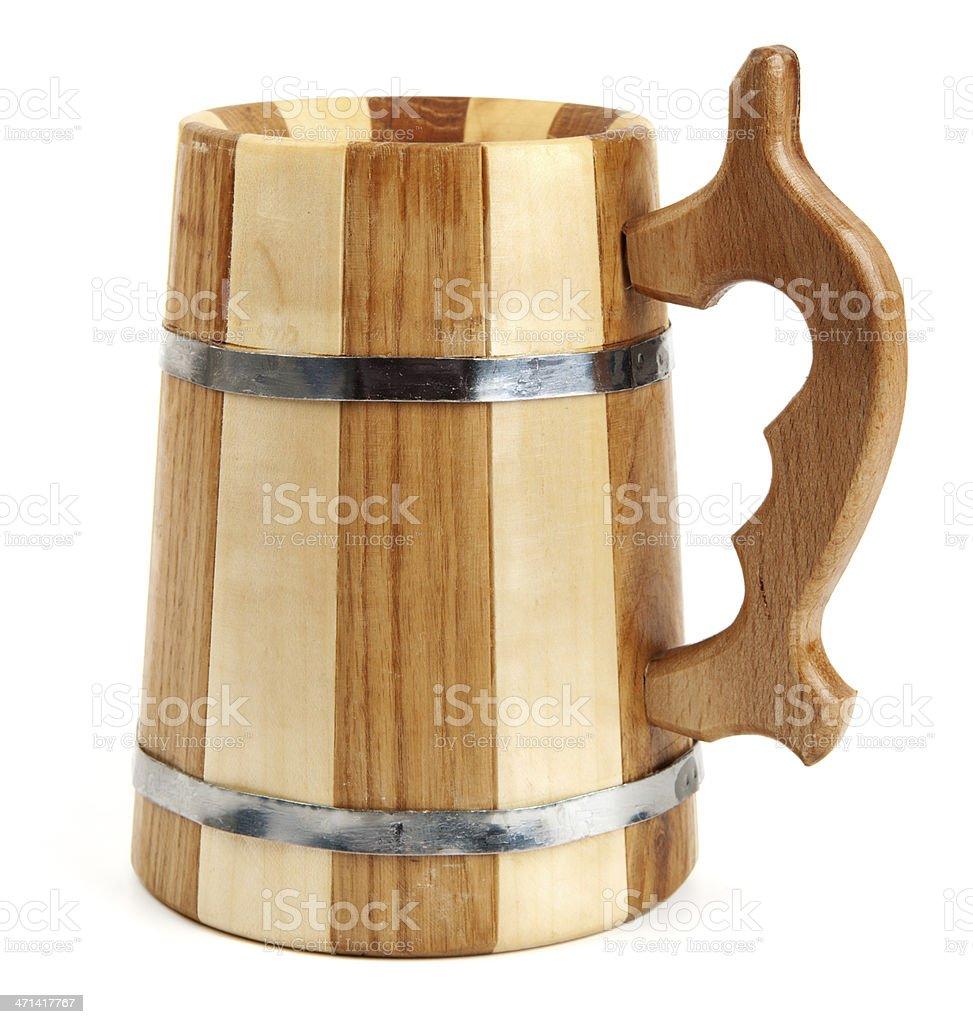 Big wooden mug royalty-free stock photo