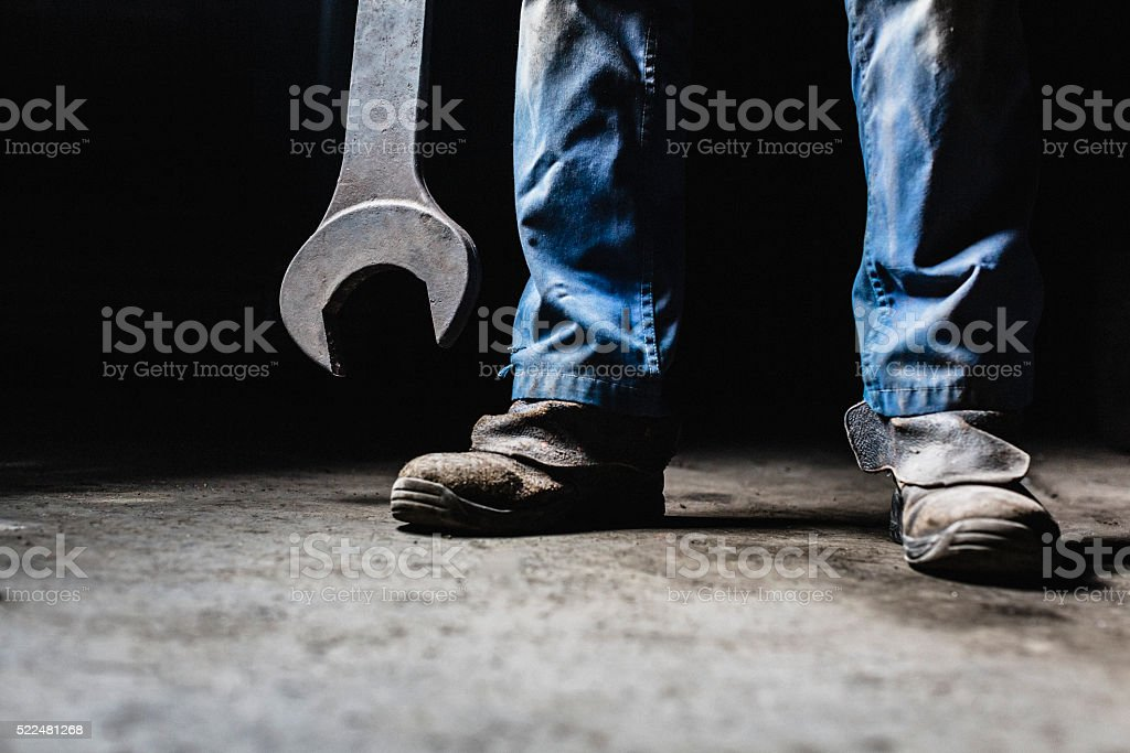 Big wrench stock photo