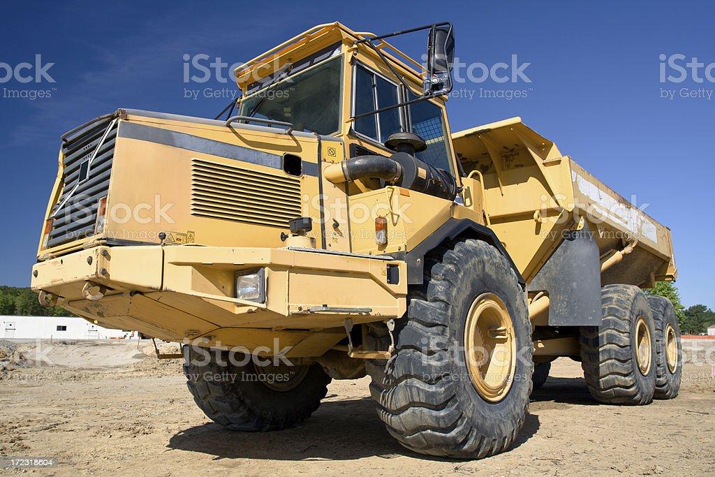 Big Yellow Dump Truck royalty-free stock photo