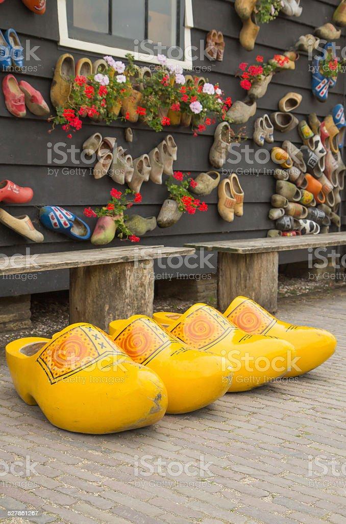Big Yellow Dutch Clogs stock photo