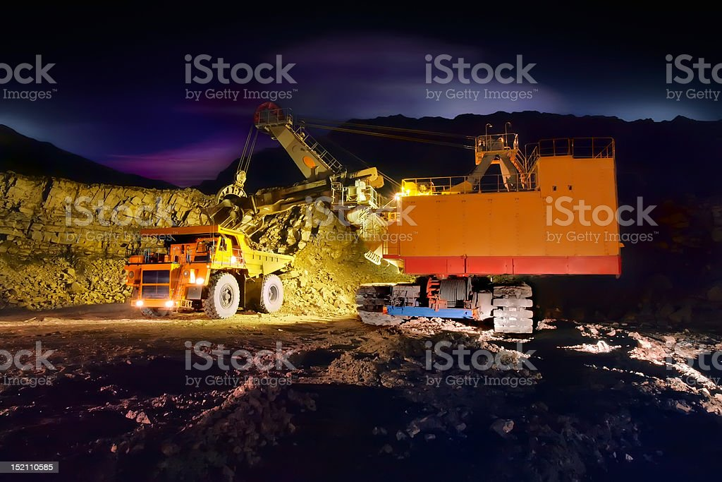 Big yellow mining truck royalty-free stock photo