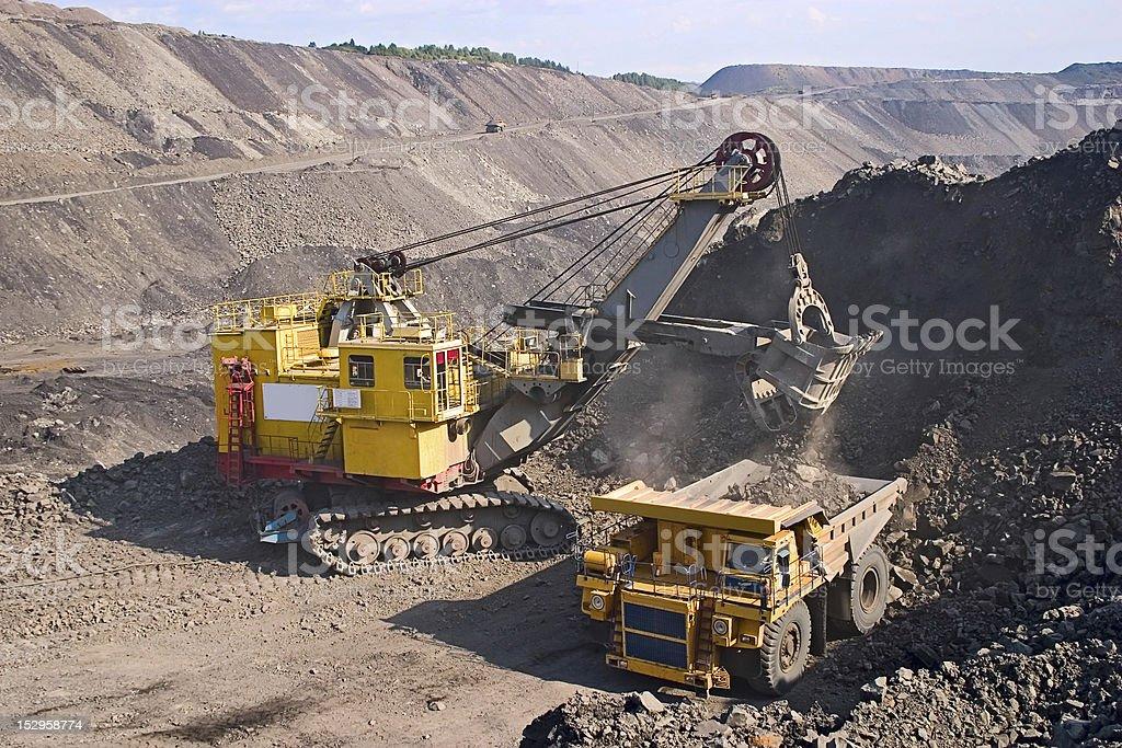 big yellow mining truck royalty-free stock photo