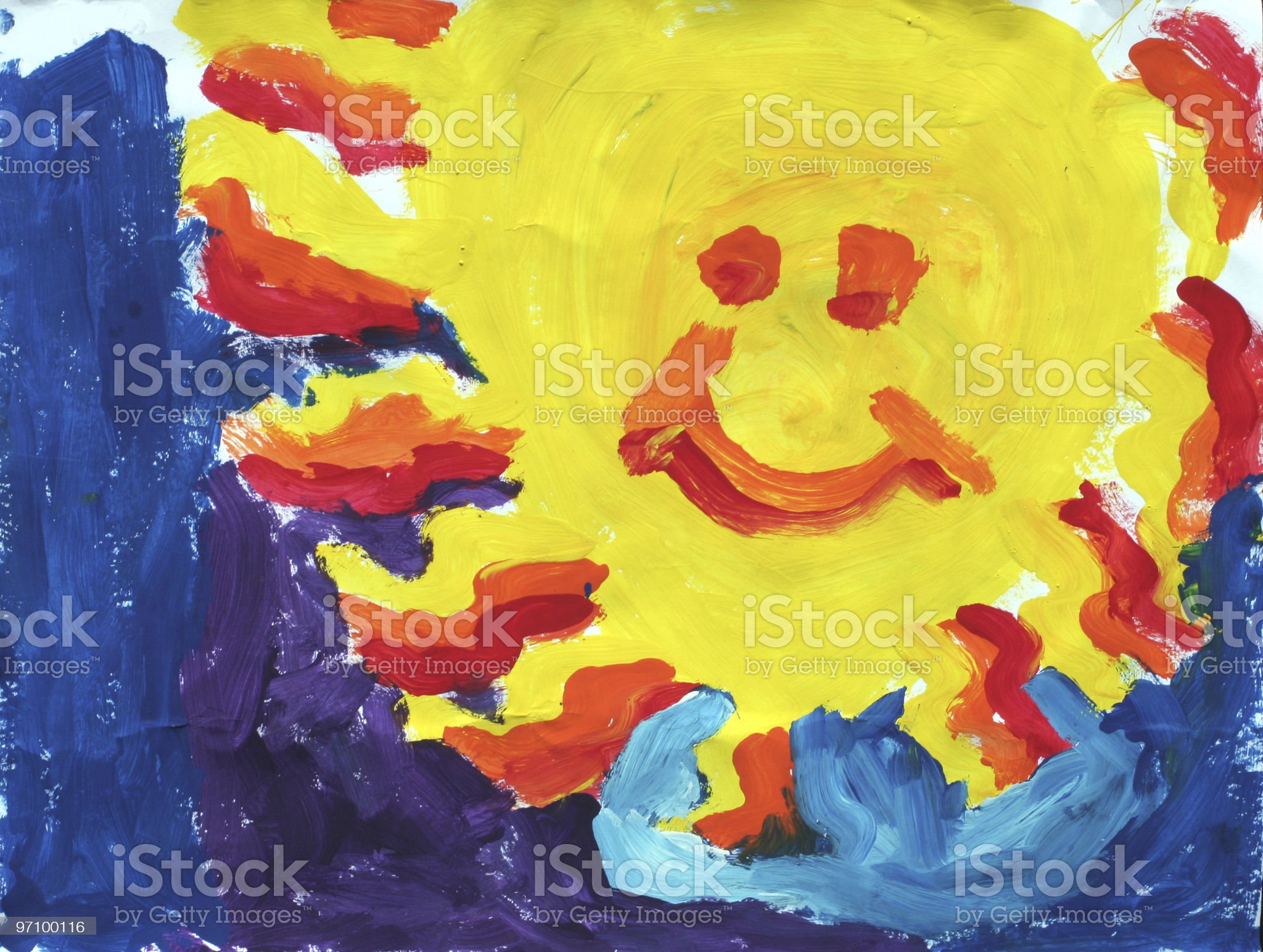 Big Yellow Sun royalty-free stock photo