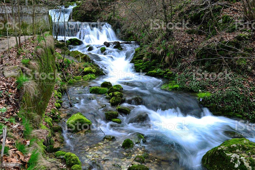 bigar nera river stock photo