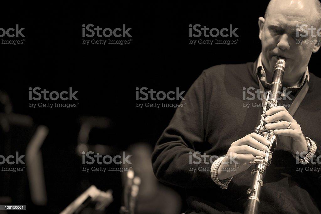 bigband: clarinet stock photo