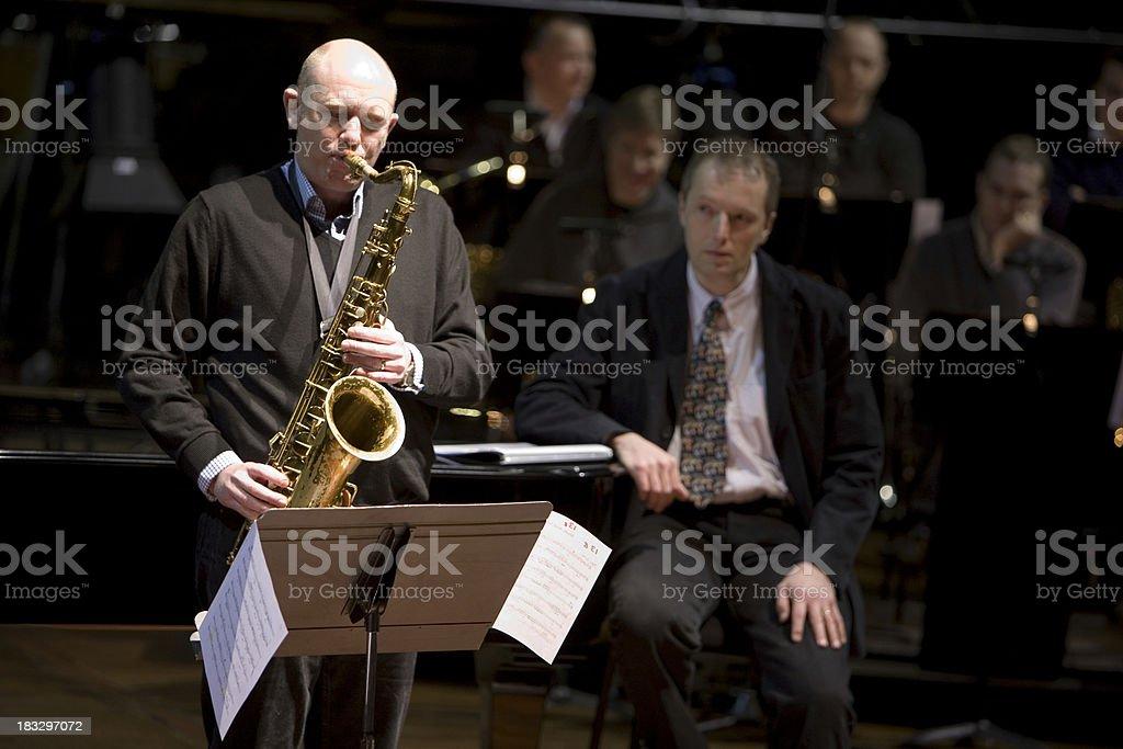 bigband: sax solo royalty-free stock photo