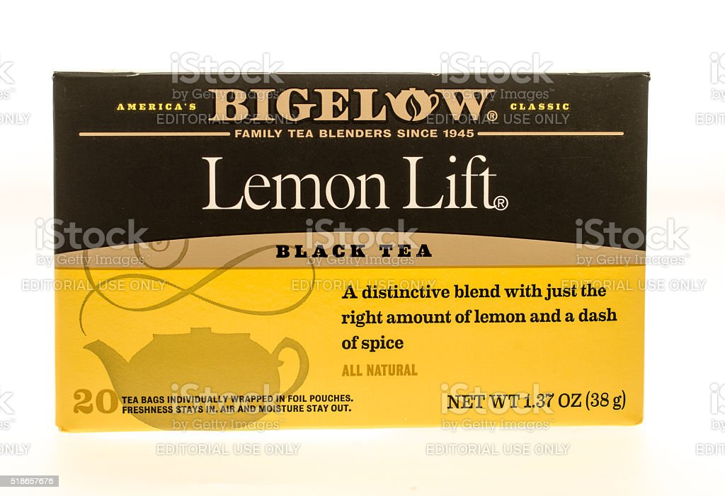 Bigelow Black Tea stock photo
