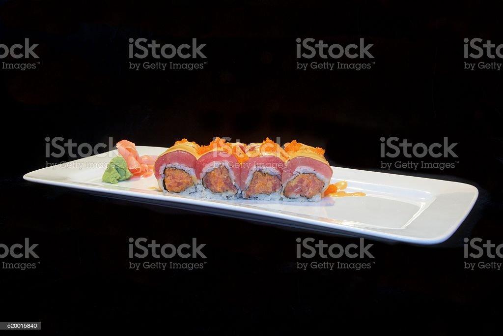 Bigeye Tuna Sushi Roll stock photo