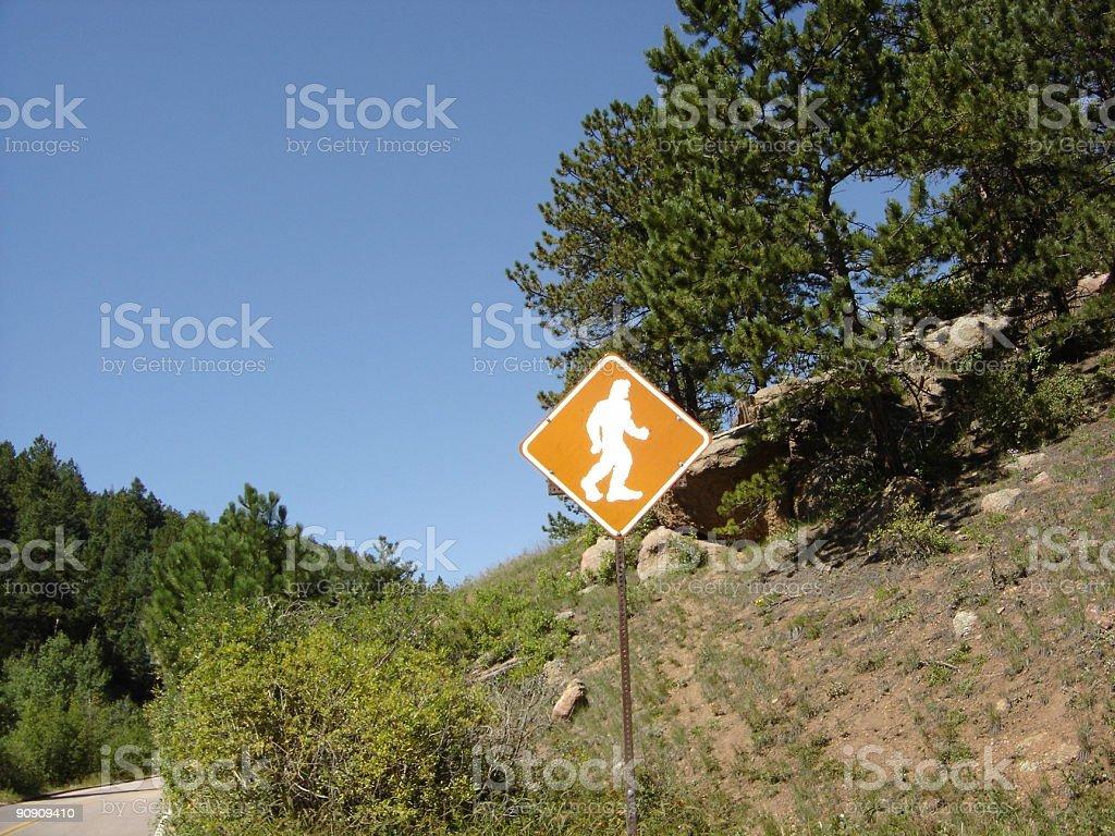 Bigfoot Crossing stock photo