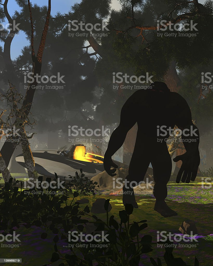 Bigfoot Yettie UFO Connection Part 3 stock photo