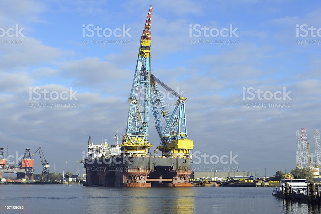 biggest crane vessel in the world royalty-free stock photo