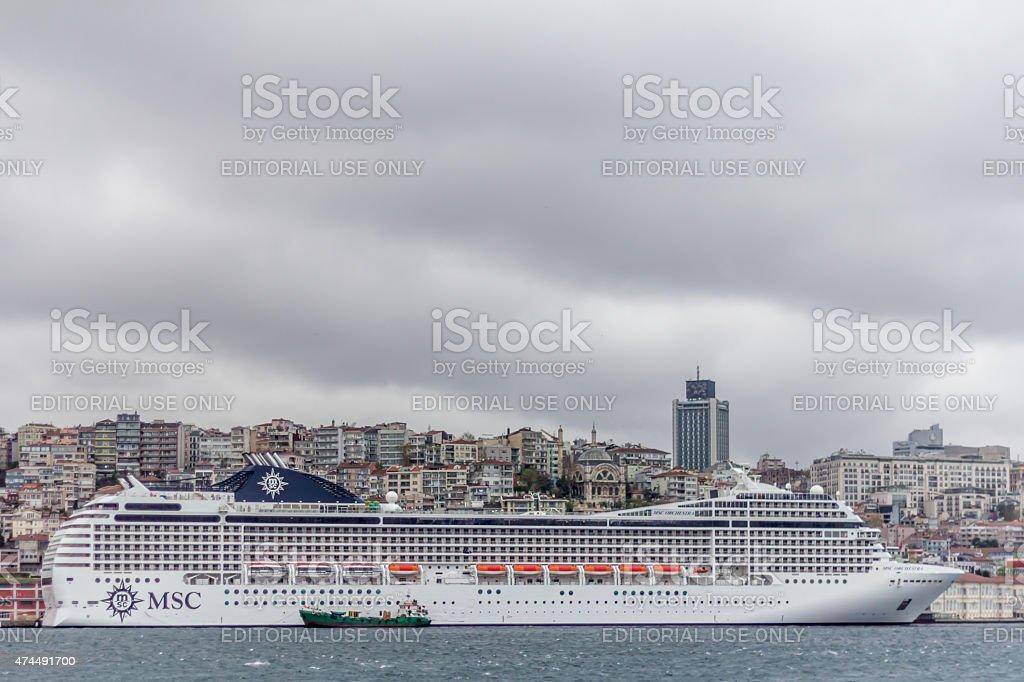 Biggest Cruise Ship stock photo