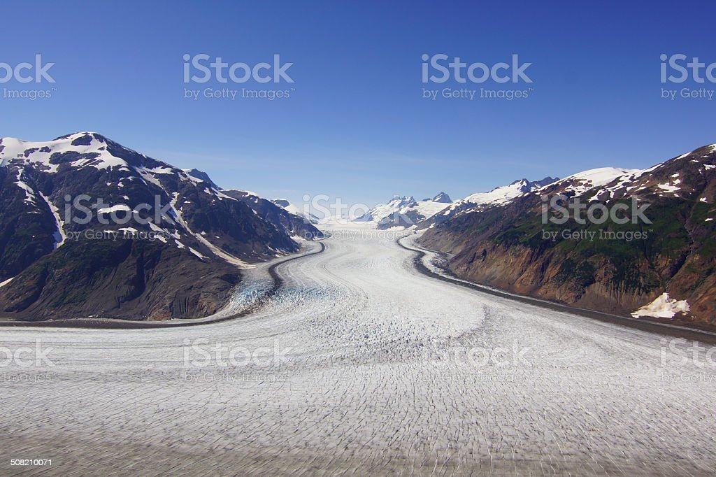 biggest glacier of Canada in Stewart stock photo