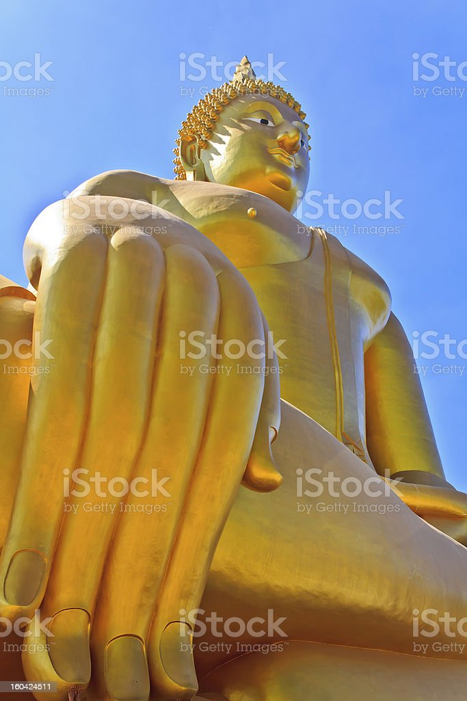 biggest golden Buddha statue royalty-free stock photo