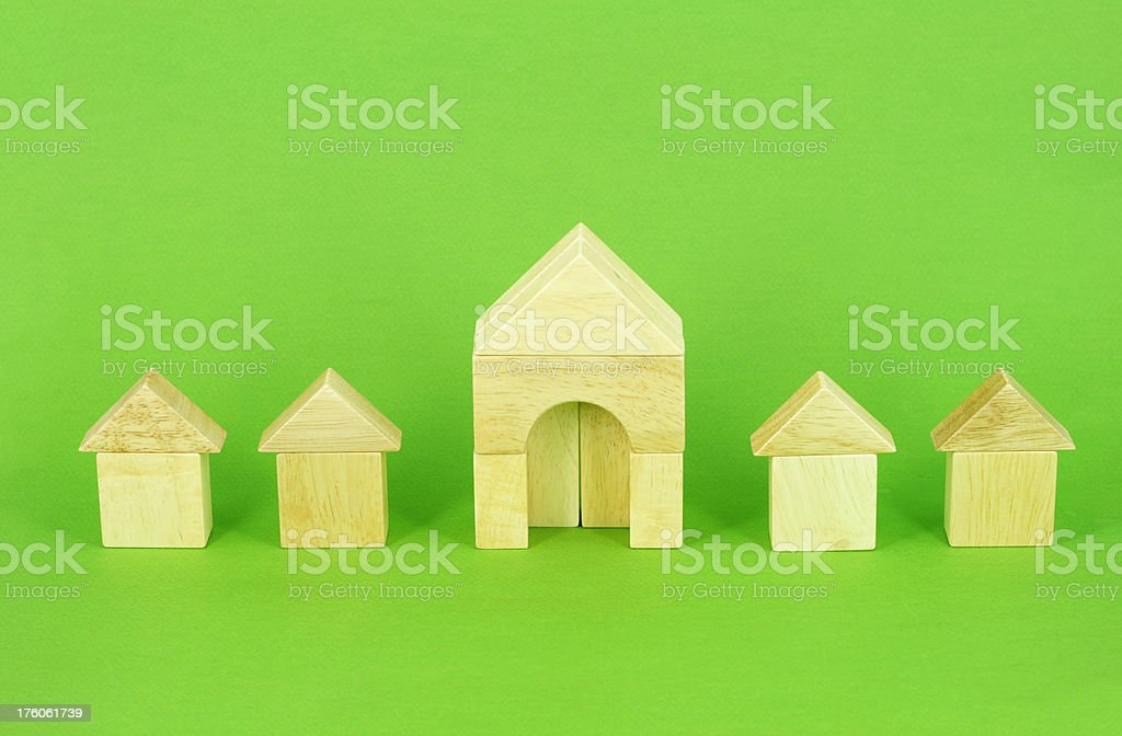 Biggest house in a row stock photo