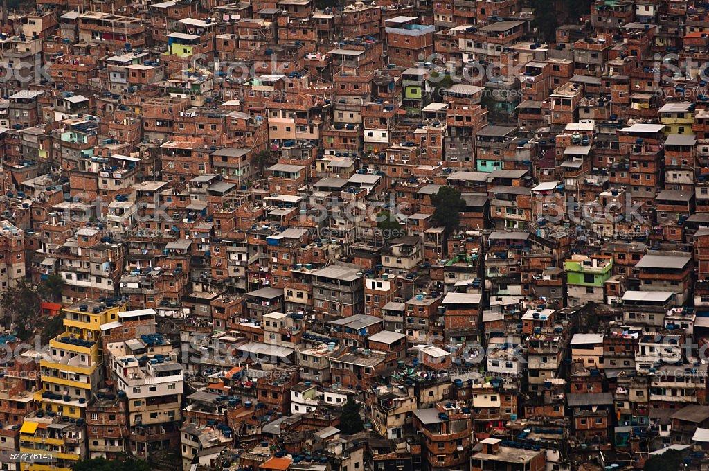Biggest Slum in South America, Rocinha, Rio de Janeiro, Brazil stock photo