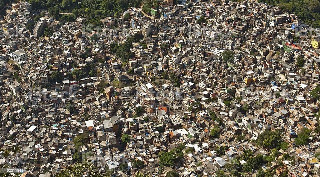 Biggest Slum in South America, Rocinha, Rio de Janeiro stock photo