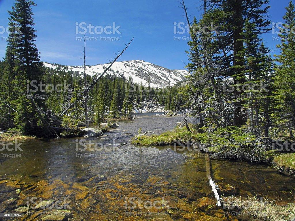 Bighorn Mountain Lake stock photo