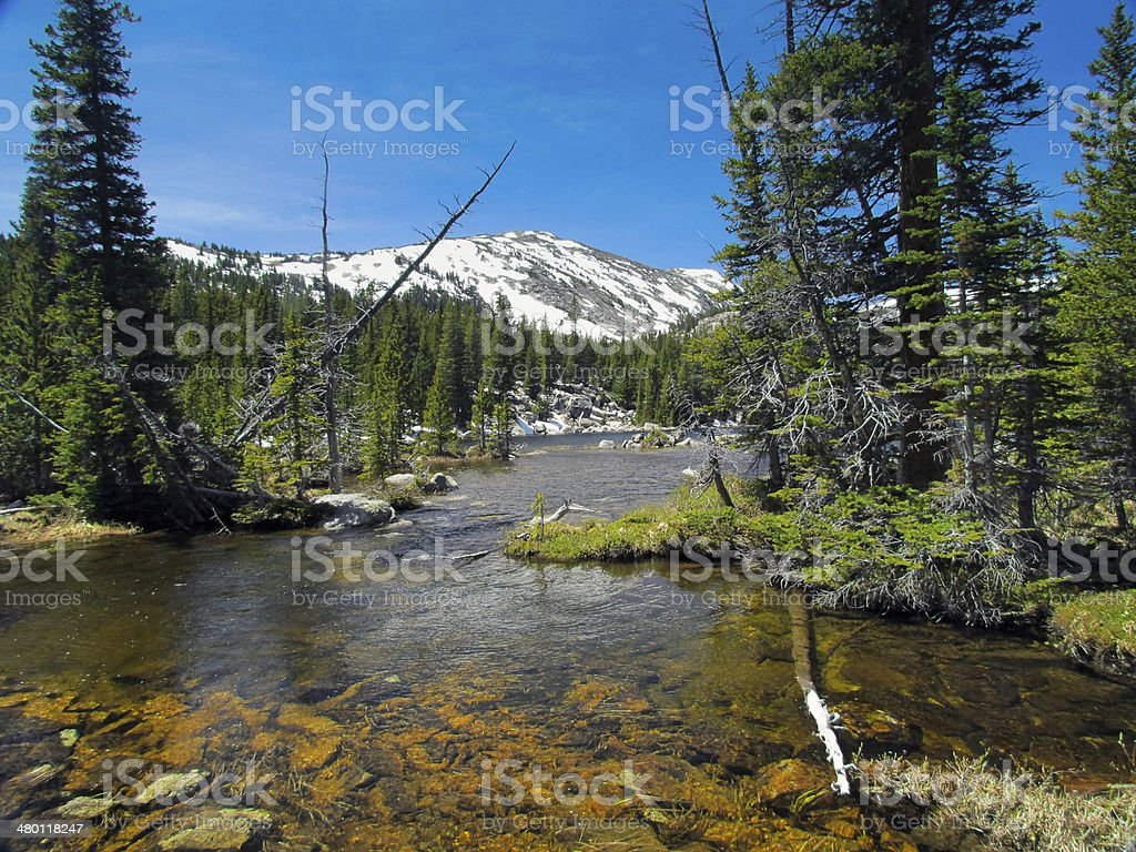 Bighorn Mountain Lake stock photo