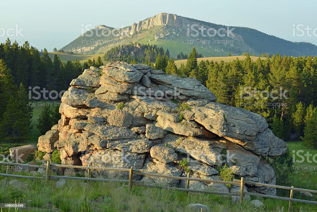 Bighorn Mountains rocks stock photo