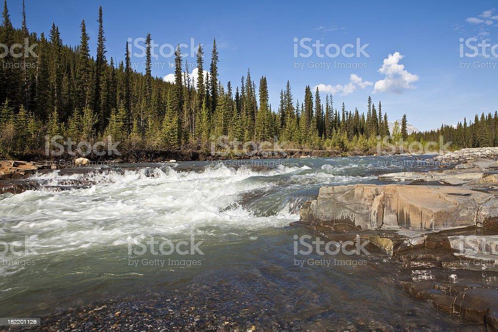 Bighorn River royalty-free stock photo