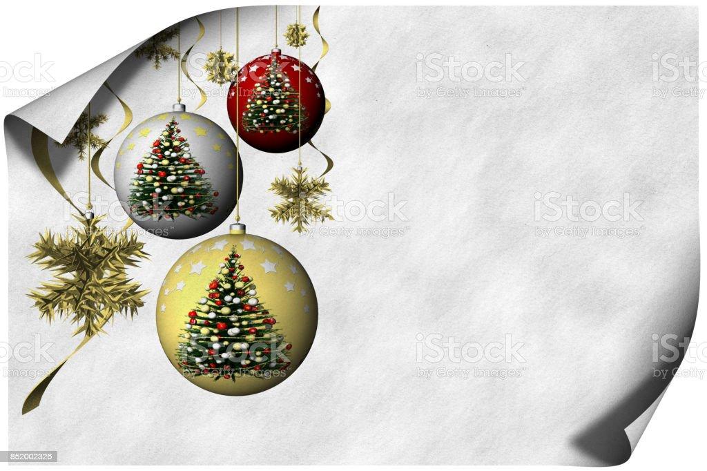 Biglietto Auguri Natale 004 stock photo