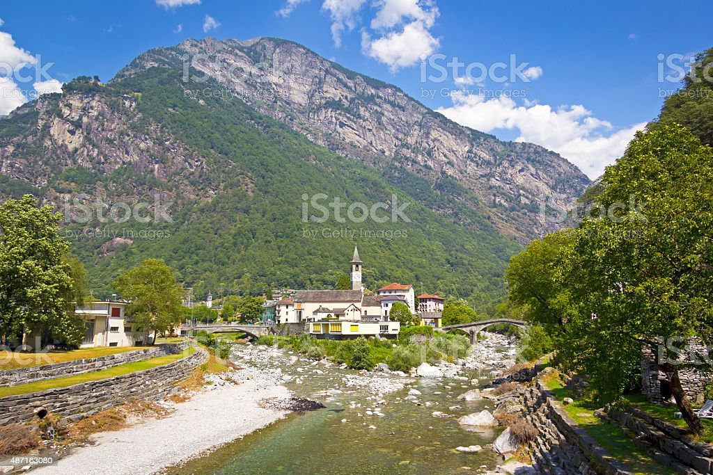 Bignasco, Ticino, Switzerland. stock photo