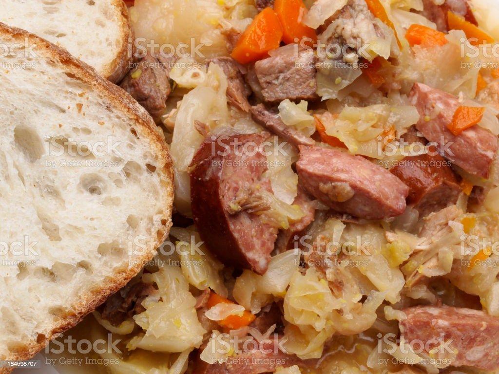 Bigos (Polish Hunter Stew) stock photo