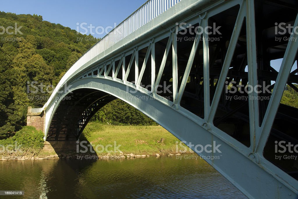 Bigsweir Bridge, an iron structure crossing the River Wye stock photo