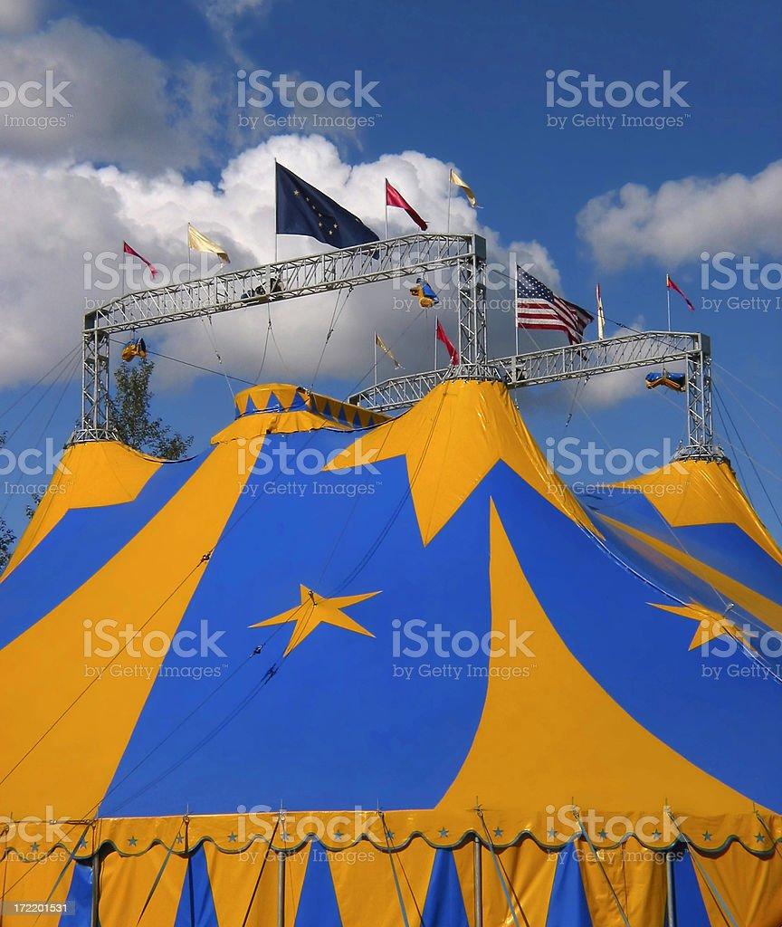 bigtop circus tent royalty-free stock photo