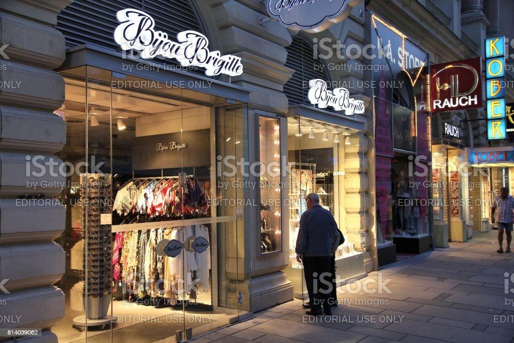 Bijou Brigitte shop stock photo