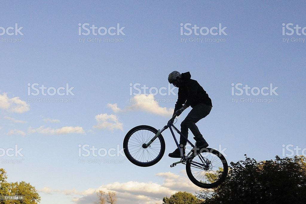 Bike acrobat royalty-free stock photo